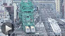 東京-上野に建設中の「東北縦貫線」。クリックすると工事の映像をご覧になれます