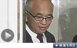 「誤解を招いたので文面を変える」と機内文書について語るスカイマークの西久保慎一社長(テレビ東京)