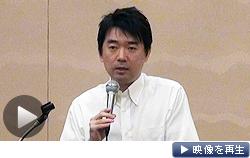 大阪維新の会の全体会合で橋下大阪市長は国政進出を正式に表明した(8日、大阪市)