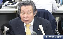 みずほ銀行の暴力団融資問題について「自行の債権であるという意識が低かった」と指摘する第三者委員会の中込委員長(28日)