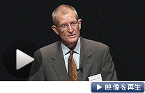 基調講演するブレア前米国家情報長官(19日、東京・大手町)