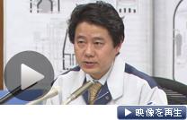 記者会見する経済産業省原子力安全・保安院の中村幸一郎審議官(12日午後)
