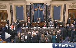 米議会の上下院は国債発行を認める暫定措置を可決。債務不履行を回避した(テレビ東京)